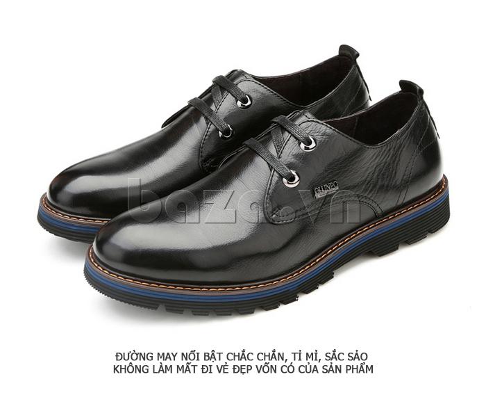 Giày da nam Olunpo QJY1405 màu đen sang trọng