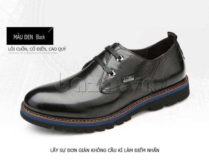 Giày da nam Olunpo QJY1405 lôi cuốn, cổ điển và cao quý