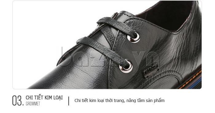Giày da nam Olunpo QJY1405 chi tiết sản phẩm tinh tế