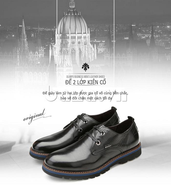 Giày da nam Olunpo QJY1405 có đế 2 lớp kiên cố