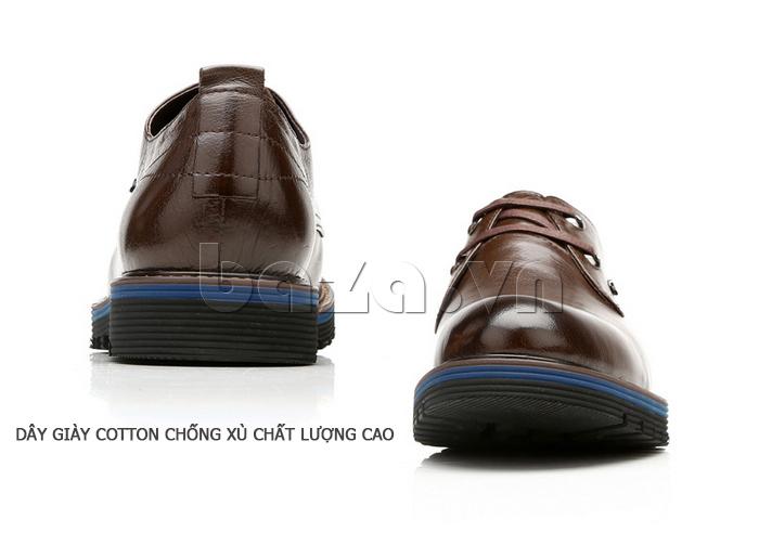 Giày da nam Olunpo QJY1405 thiết kế đế giày có viền màu