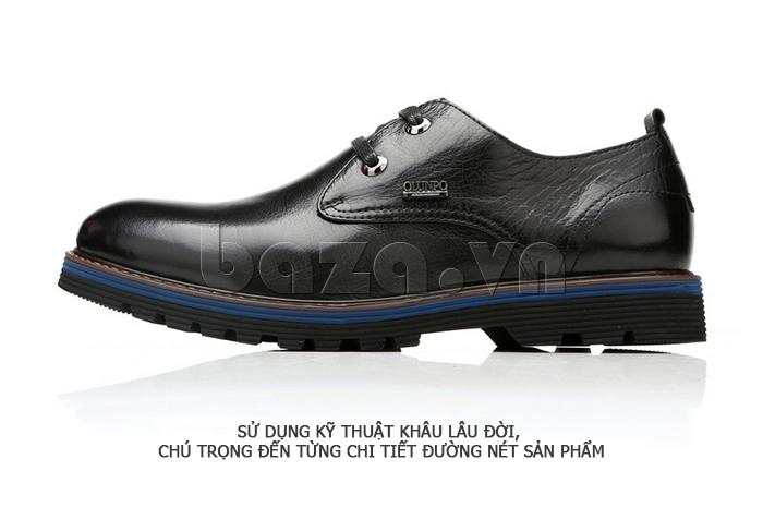 Giày da nam Olunpo QJY1405 sử dụng kỹ thuật khâu lâu đời