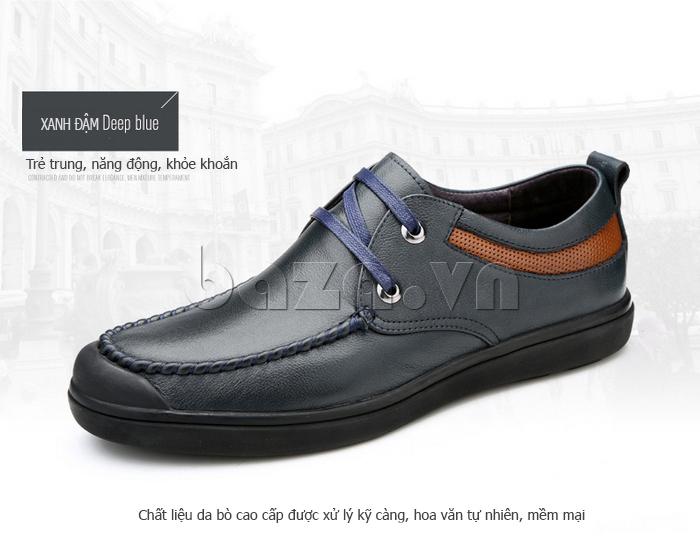 Giày da nam Olunpo QJY1404  trẻ trung và năng động