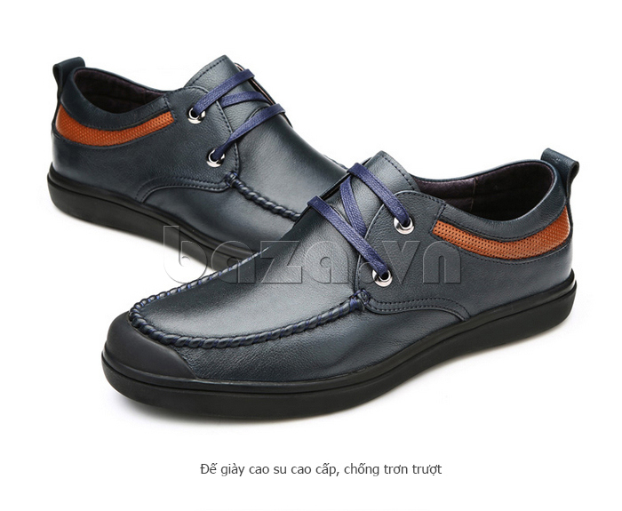 Giày da nam Olunpo QJY1404  đế giày cao cấp chống trơn trượt