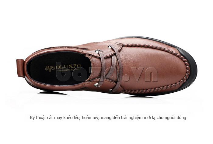 Giày da nam Olunpo QJY1404  sử dụng kxy thuật cắt may khéo léo