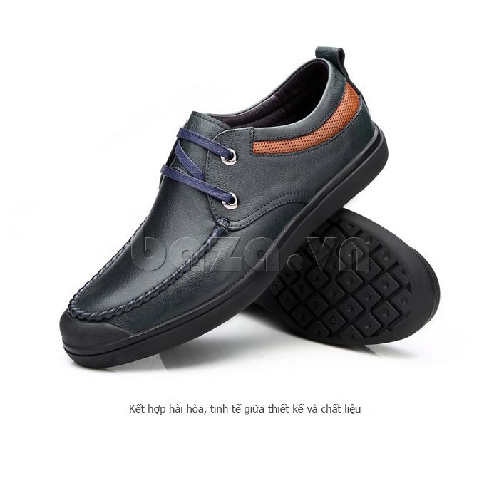 Giày da nam Olunpo QJY1404  kết hợp hài hòa giữa chất liệu và thiết kế