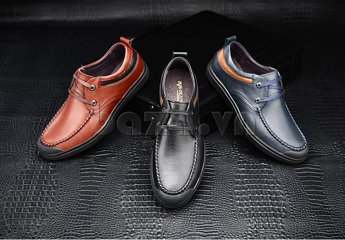 Giày da nam Olunpo QJY1404  có 3 màu thời trang