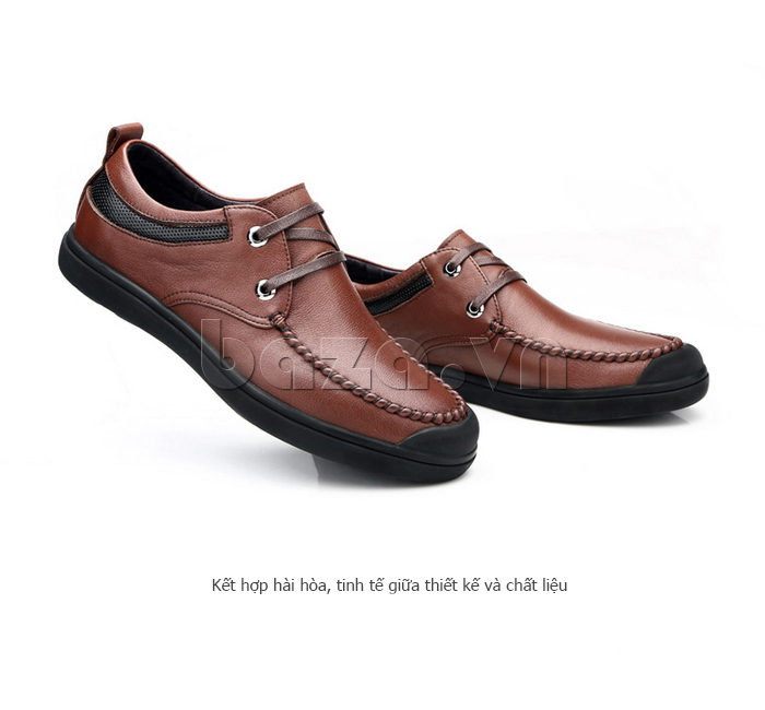 Giày da nam Olunpo QJY1404  khẻo khoắn và thời trang