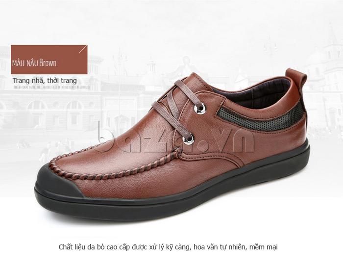 Giày da nam Olunpo QJY1404  màu nâu trang nhã