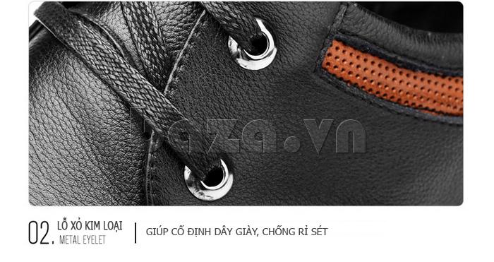 Giày da nam Olunpo QJY1404  thiết kế lỗ xỏ đẹp mắt