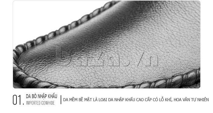 Giày da nam Olunpo QJY1404  làm từ da bò nhập khẩu