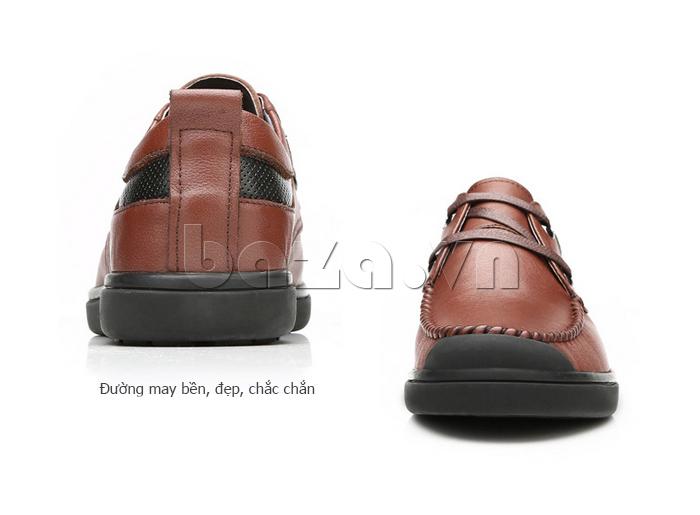 Giày da nam Olunpo QJY1404  sử dụng đường may bền đẹp chắc chắn