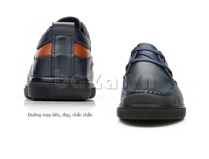 Giày da nam Olunpo QJY1404  sử dụng đường may bền đẹp và chắc chắn