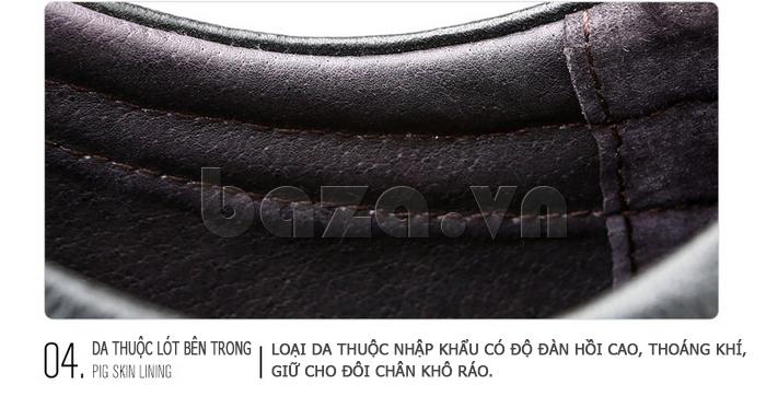Giày da nam Olunpo QJY1404  sử dụng lớp da thuộc cao cấp
