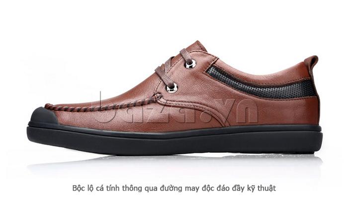 Giày da nam Olunpo QJY1404  bộc lộ cá tính đầy kỹ thuật