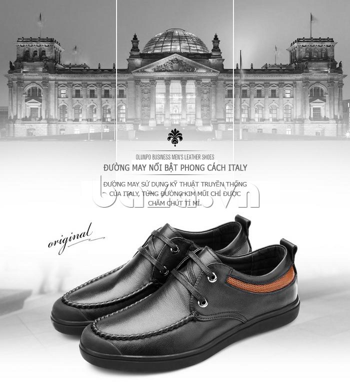 Giày da nam Olunpo QJY1404  thể hiện phong cách Ý