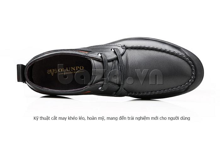 Giày da nam Olunpo QJY1404  sử dụng kỹ thuật cắt may khéo léo