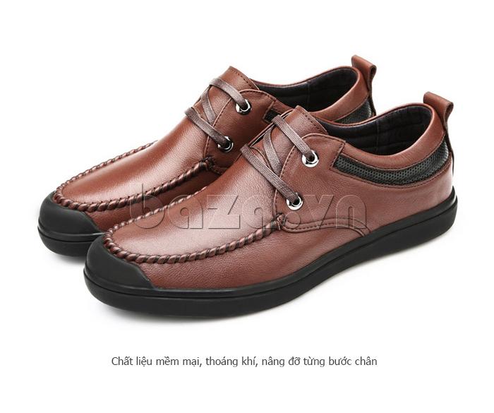 Giày da nam Olunpo QJY1404  sử dụng chất liệu mềm mại