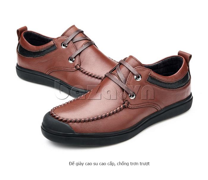Giày da nam Olunpo QJY1404  đế giày cao su chống trơn trượt