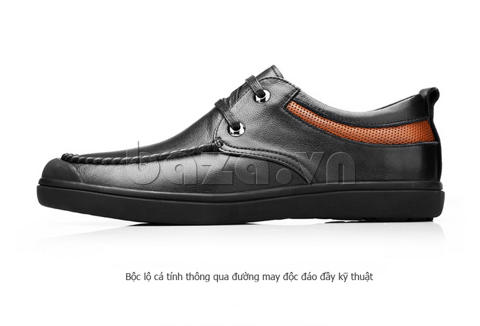 Giày da nam Olunpo QJY1404  giúp nam giới bộc lộ cá tính