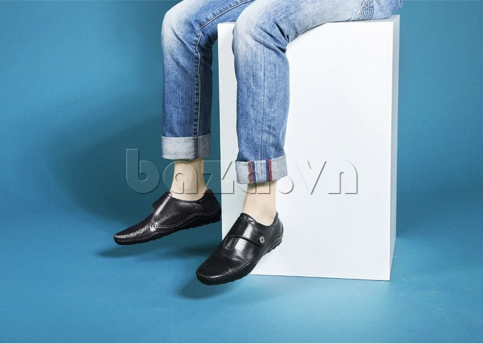 Giầy da nam Olunpo  kiểu dáng giày lười