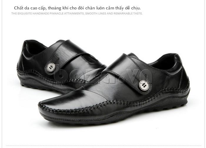 Giày nam chất da cao cấp cho đôi chân luôn cảm thấy dễ chịu