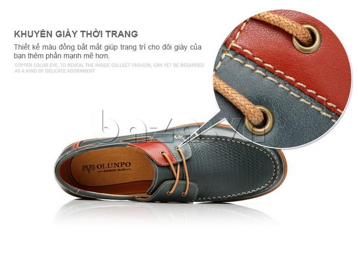 thiết kế khuyên giày giúp nam giới mạnh mẽ hơn với giày OlunpoCXYF1301