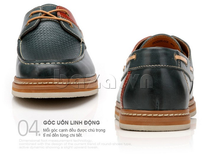 Góc uốn của giày OlunpoCXYF1301 linh động  và tỉ mỉ đến từng chi tiết