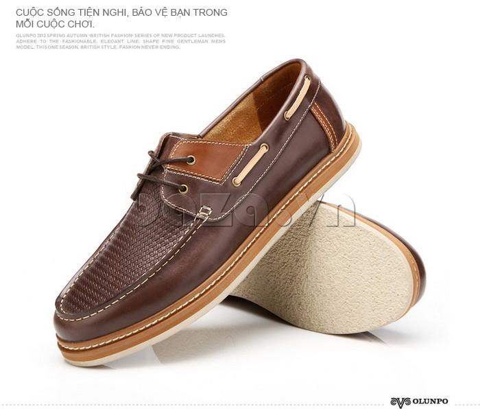 giày OlunpoCXYF1301 kiểu dáng giày lười tinh tế giúp bạn hết mình với những cuộc chơi