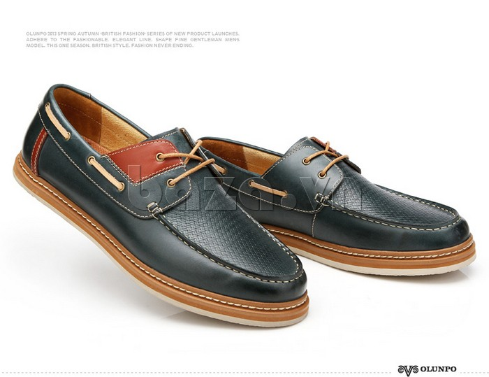 giày OlunpoCXYF1301 màu xanh trẻ trung tạo sự lôi cuốn và hoàn mỹ