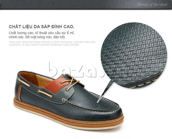chất liệu da sáp đỉnh cao tạo nên sản phẩm giày OlunpoCXYF1301 chất lượng, bền đẹp