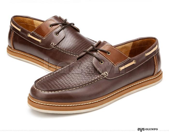 giày OlunpoCXYF1301 màu nâu sang trọng và trẻ trung