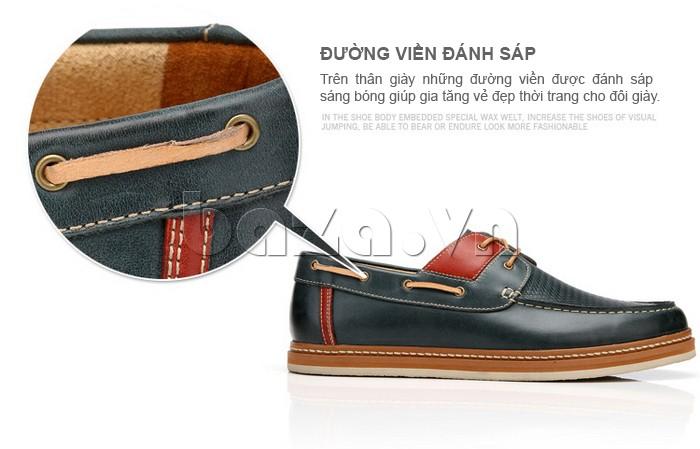 đường viền đánh sáp gia tăng vẻ đẹp thời trang cho giày OlunpoCXYF1301