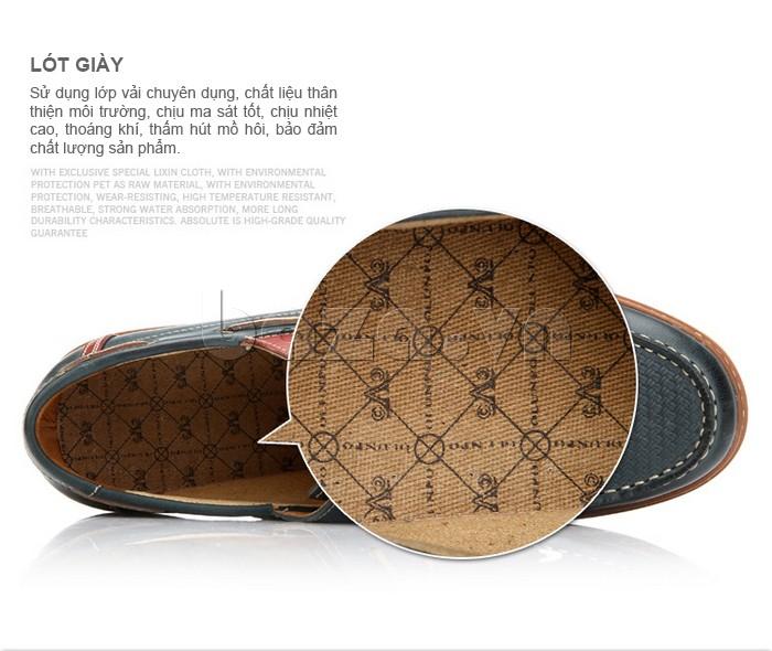 sử dụng lớp vải chuyên dụng làm lót giày cho giày OlunpoCXYF1301