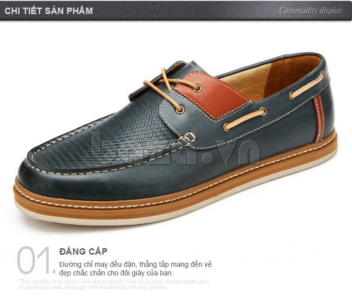 đường chỉ may đều đặn thể hiện đẳng cấp cho giày OlunpoCXYF1301 và nam giới