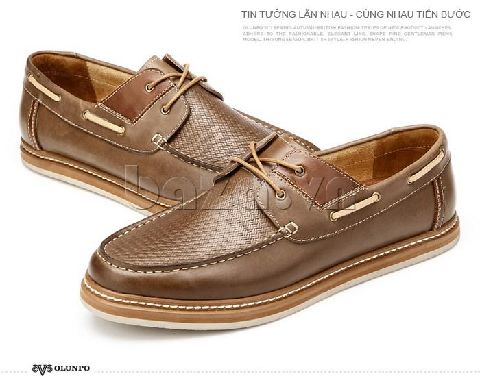 giày OlunpoCXYF1301 được thiết kế lạ mắt với vành đai dây xỏ ở thân giày