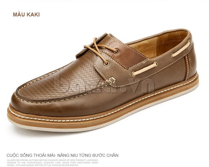 giày OlunpoCXYF1301 màu kaki giúp nâng niu từng bước chân cho nam giới