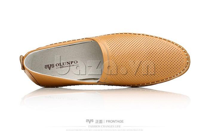 Giày nam Olunpo XCY1503 nâu sang trọng