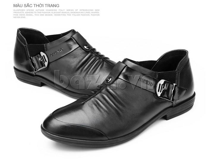 Giày nam thời trang Olunpo màu sắc tinh tế và hiện đại