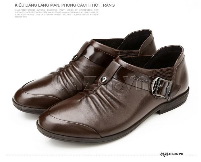 Thiết kế giày nam mũi giày tròn sang trọng và lịch lãm