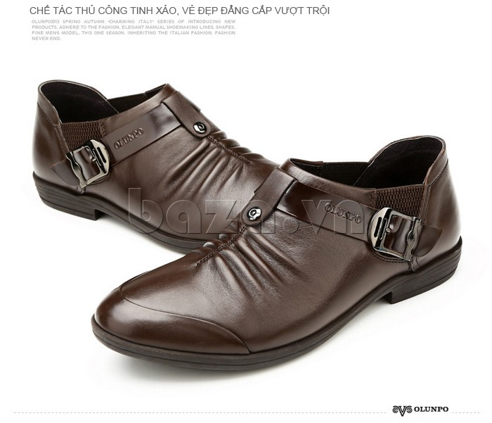 Toàn bộ chất liệu làm nên đôi giày da nam đều là chất liệu cao cấp