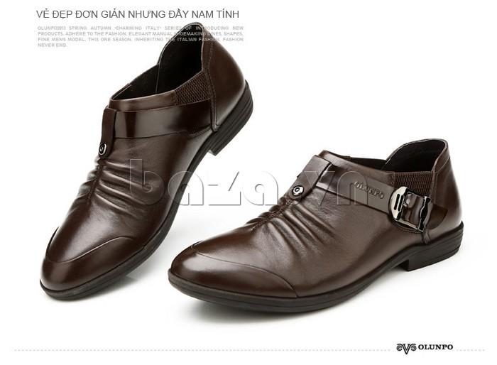 Đôi giày da nam toát lên vẻ đẹp đơn giản nhưng đầy nam tính