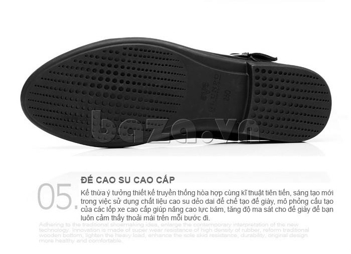 Đế giày cao su cao cấp, thiết kế chống trơn trượt