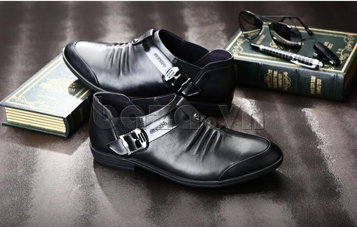 Giầy da nam Olunpo QXD1301 thiết kế kiểu giày lười
