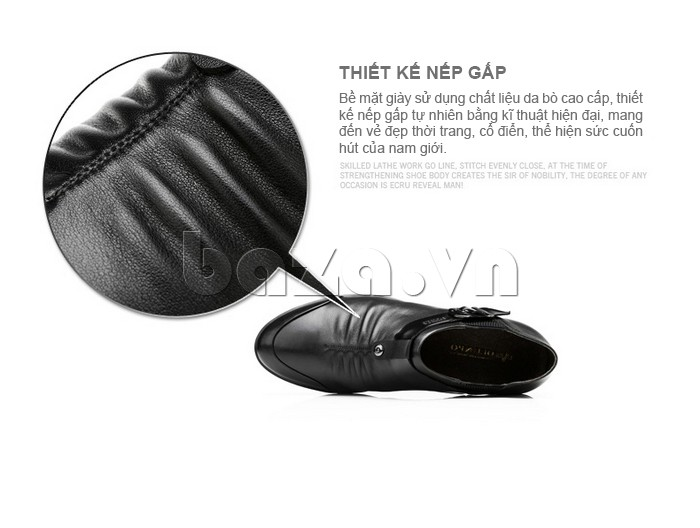 Thiết kễ lưỡi giày da có nếp gấp tự nhiên bằng kĩ thuật hiện đại