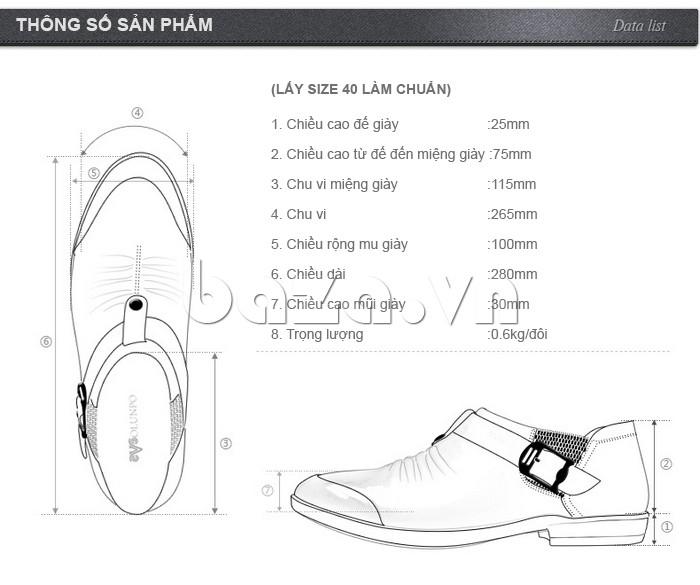 Thông tin chi tiết của Giầy da nam Olunpo QXD1301