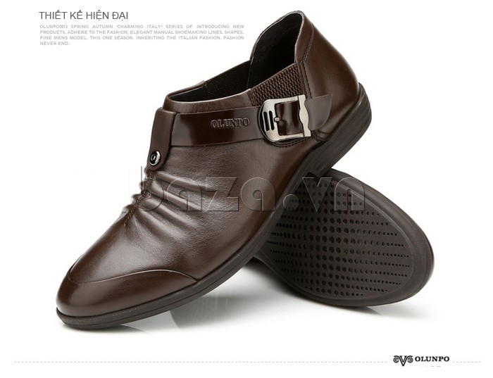 Giày da nam cao cấp chính hãng Olunpo