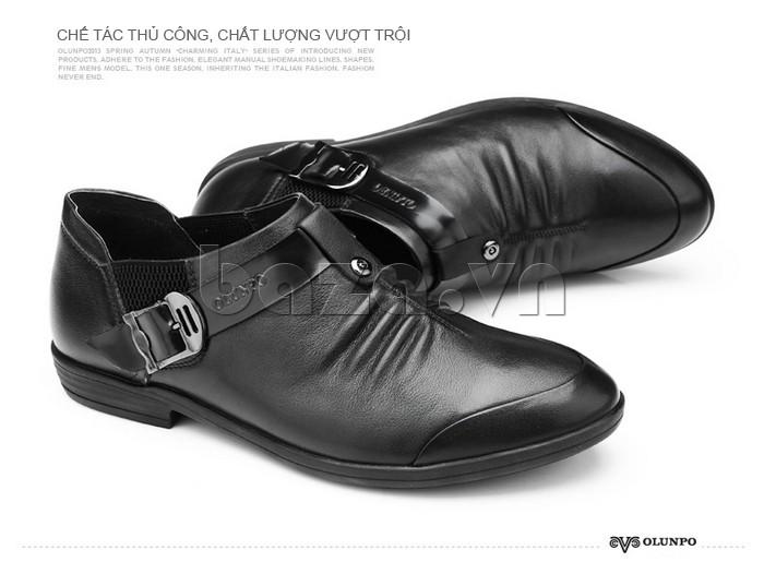 Giày da nam chế tác thủ công, chất lương vượt trội