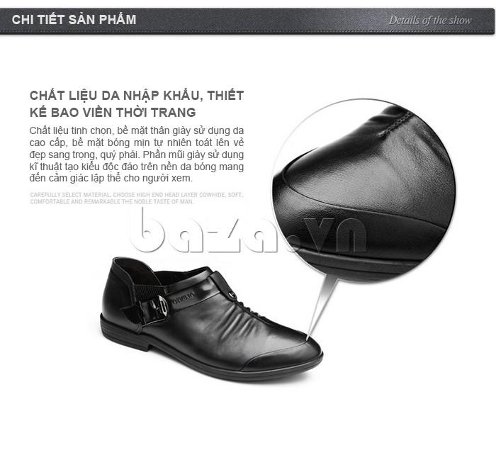 Giày da chất liệu nhập khẩu, thiết kế bao viền thời trang
