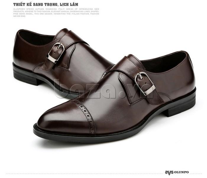 giày nam Olunpo QLXS1305 thiết kế lịch lãm, sang trọng